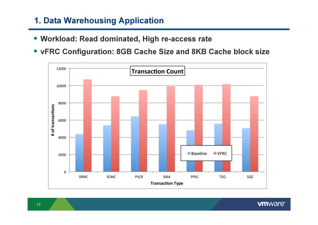 17 1. Data Warehousing Application § Workload...