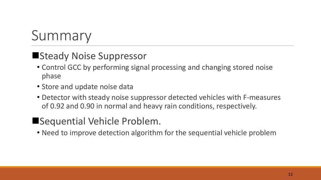 Summary nSteady Noise Suppressor • Control GCC ...