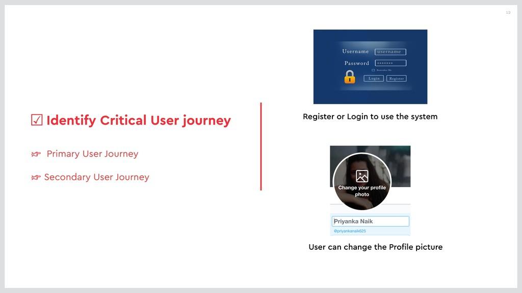 12 ☞ Primary User Journey ☞ Secondary User Jour...