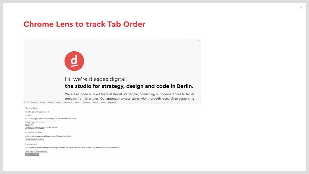 25 Chrome Lens to track Tab Order