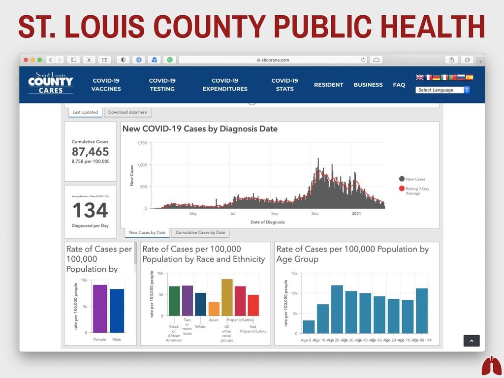 ST. LOUIS COUNTY PUBLIC HEALTH