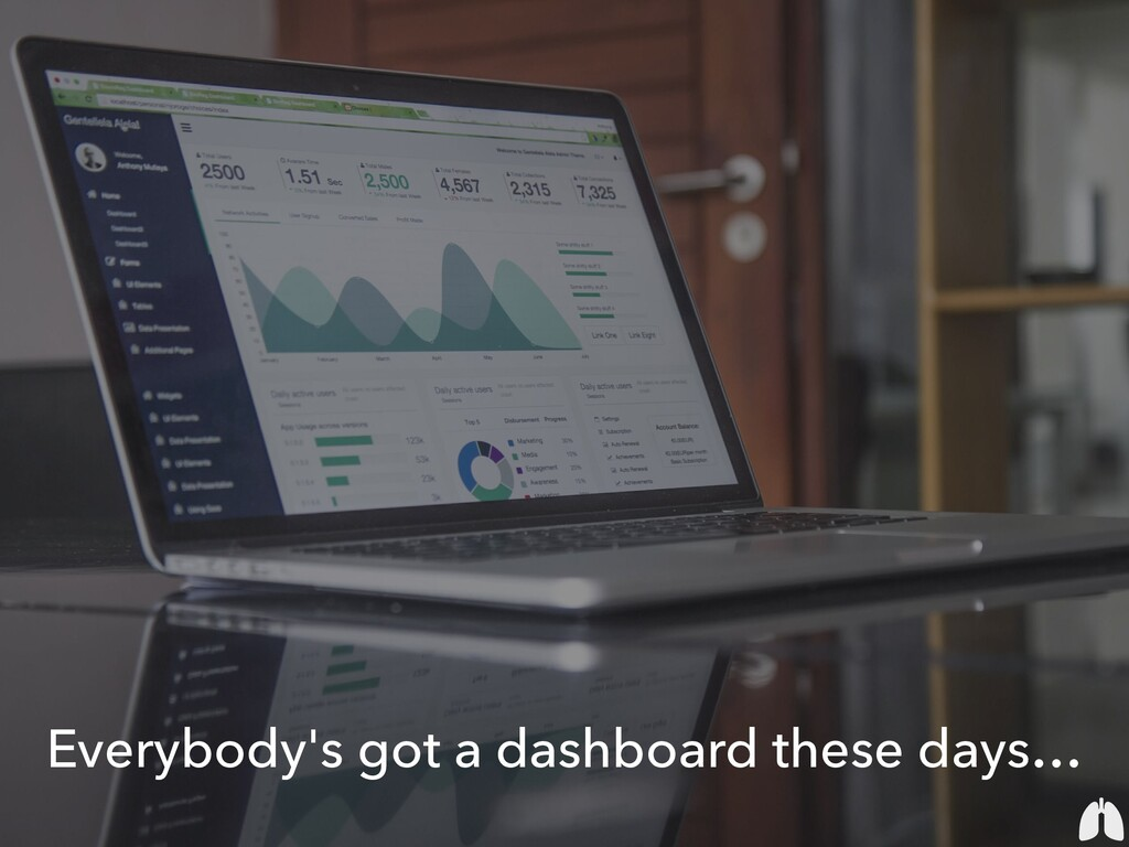 Everybody's got a dashboard these days…