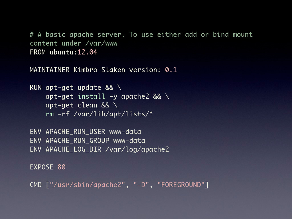 # A basic apache server. To use either add or b...