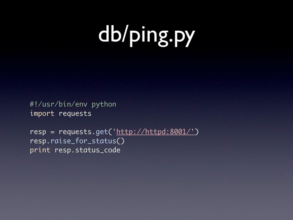 db/ping.py #!/usr/bin/env python import request...