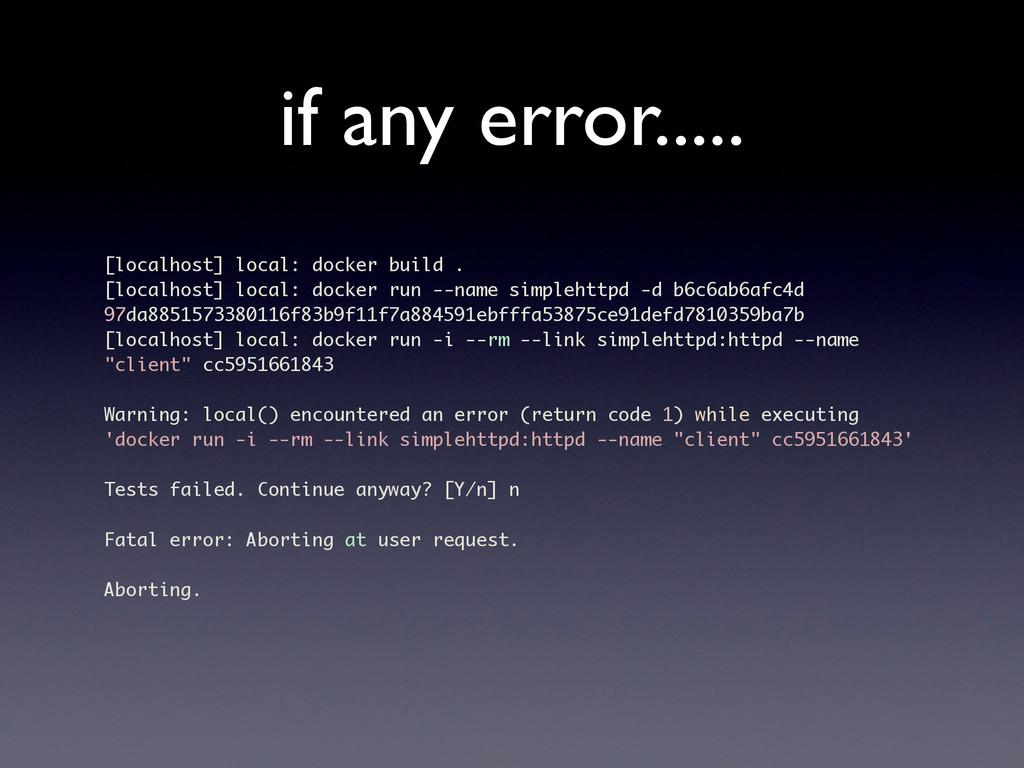if any error..... [localhost] local: docker bui...