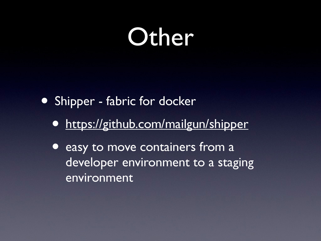 Other • Shipper - fabric for docker • https://g...