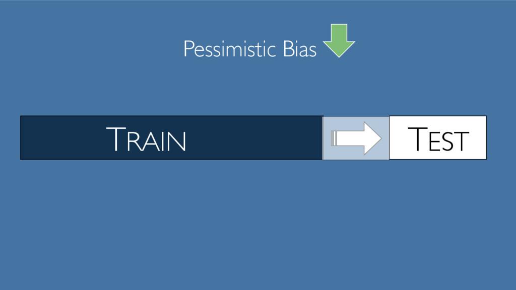 TRAIN TEST Pessimistic Bias