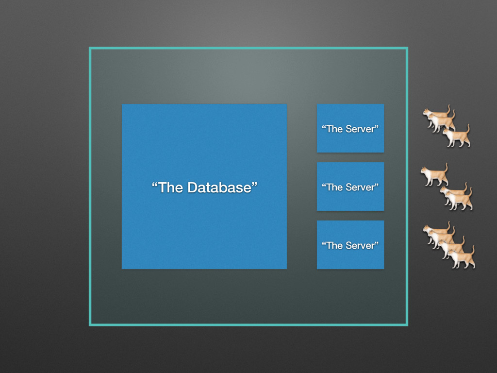 """""""The Server""""    """"The Database"""" """"The Server"""" """"Th..."""