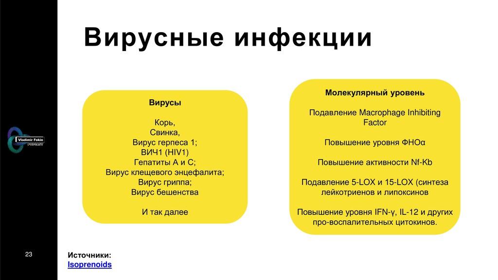23 Вирусные инфекции Вирусы Корь, Свинка, Вирус...