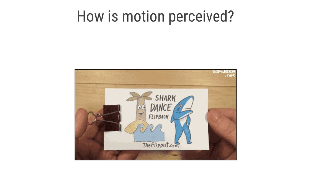 How is motion perceived?