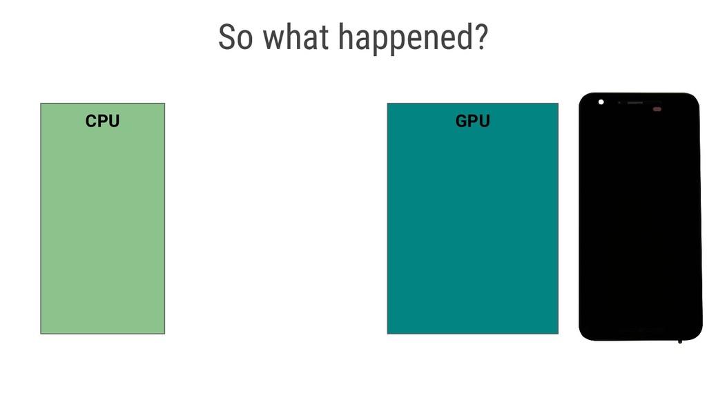 CPU GPU So what happened?