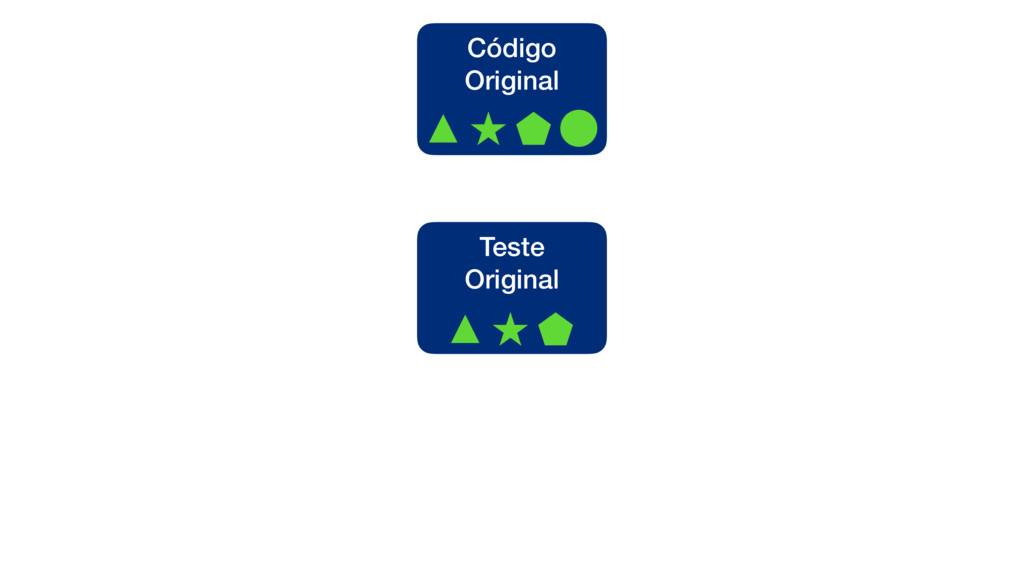 Teste Original Código Original
