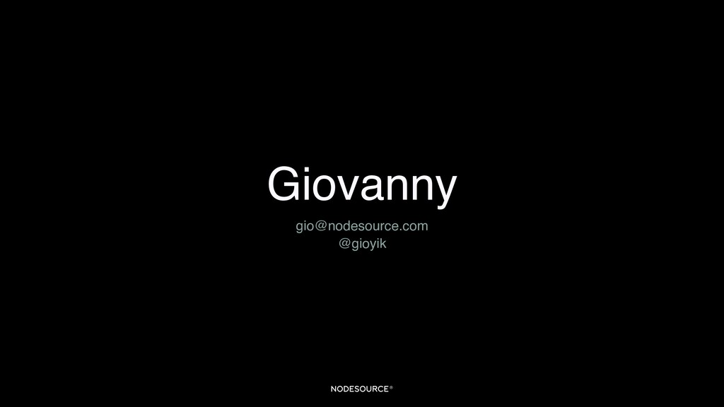 Giovanny gio@nodesource.com @gioyik