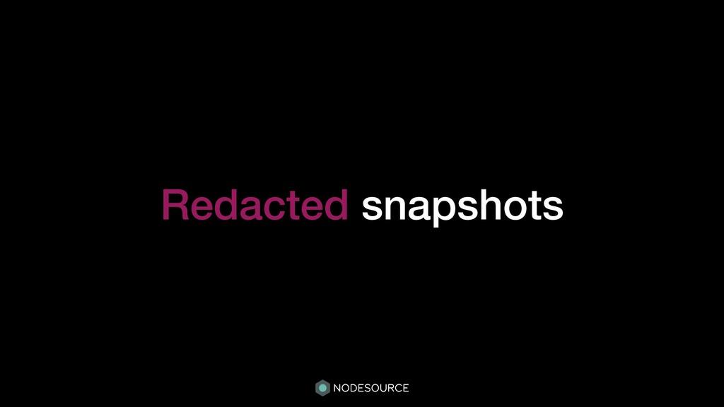 Redacted snapshots