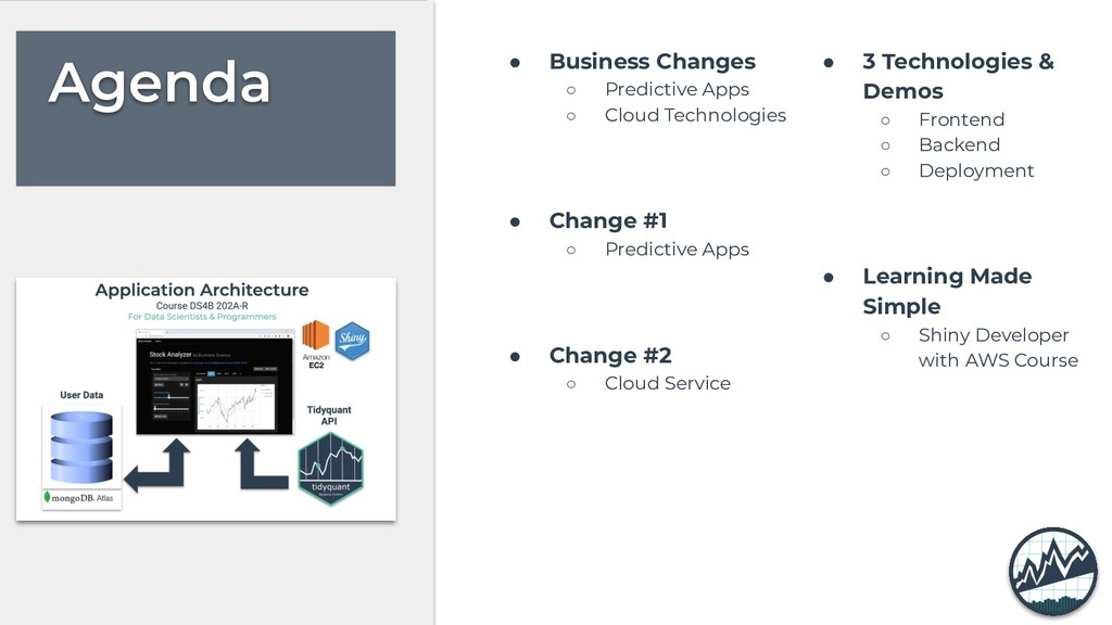 Agenda ● Business Changes ○ Predictive Apps ○ C...