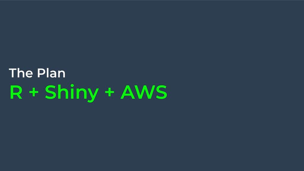 The Plan R + Shiny + AWS