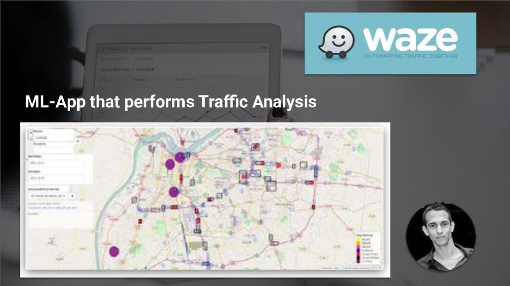 ML-App that performs Traffic Analysis