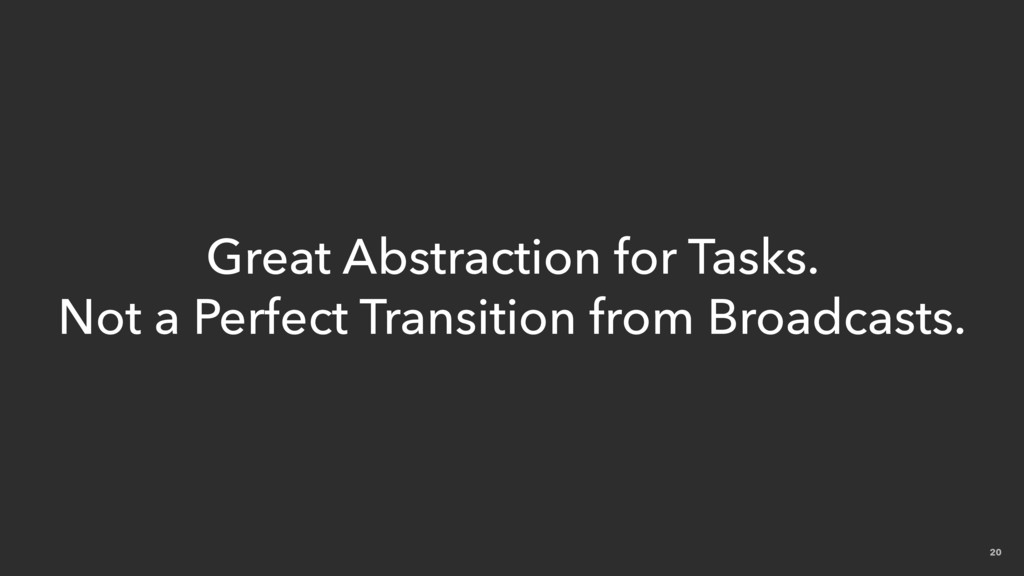 20 Great Abstraction for Tasks. Not a Perfect T...
