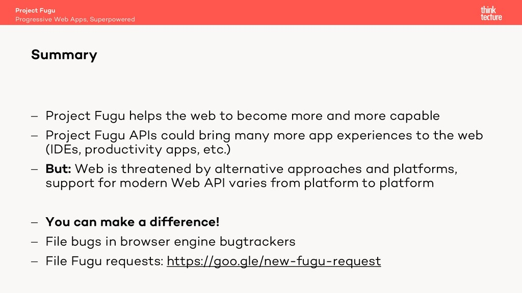 - Project Fugu helps the web to become more and...