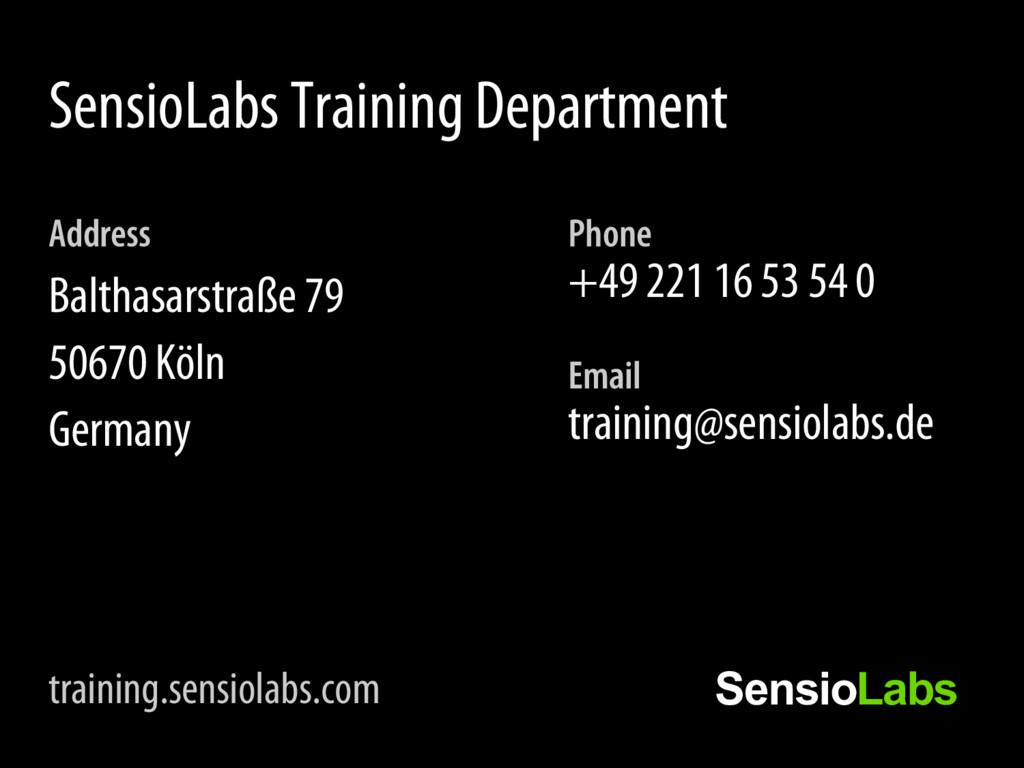Phone +49 221 16 53 54 0 Email training@sensiol...