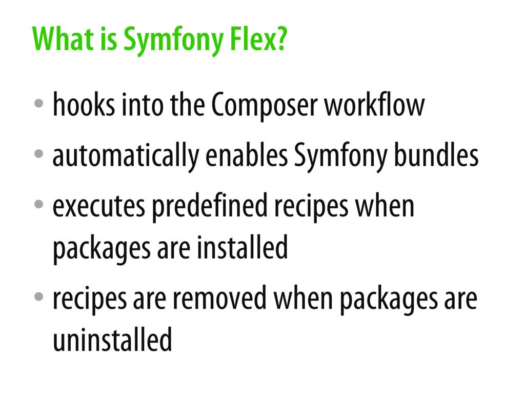 • hooks into the Composer workflow • automatica...
