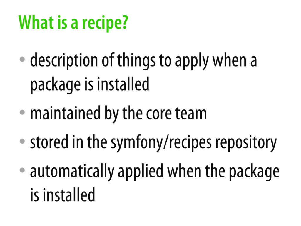 • description of things to apply when a package...
