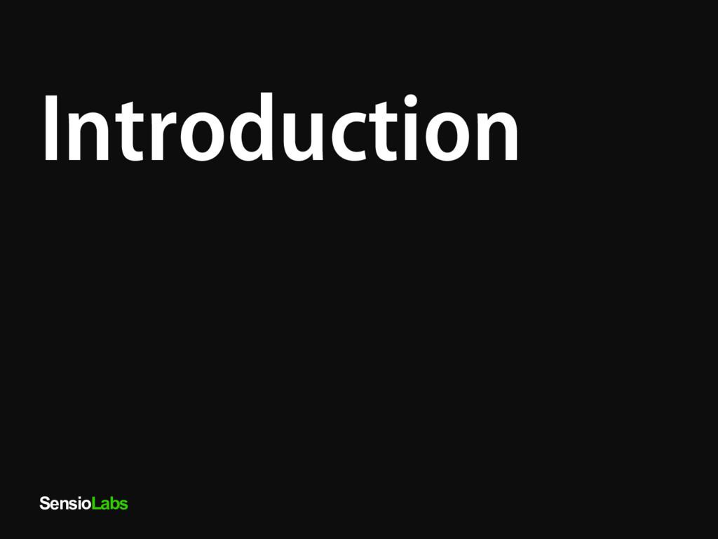 SensioLabs Introduction
