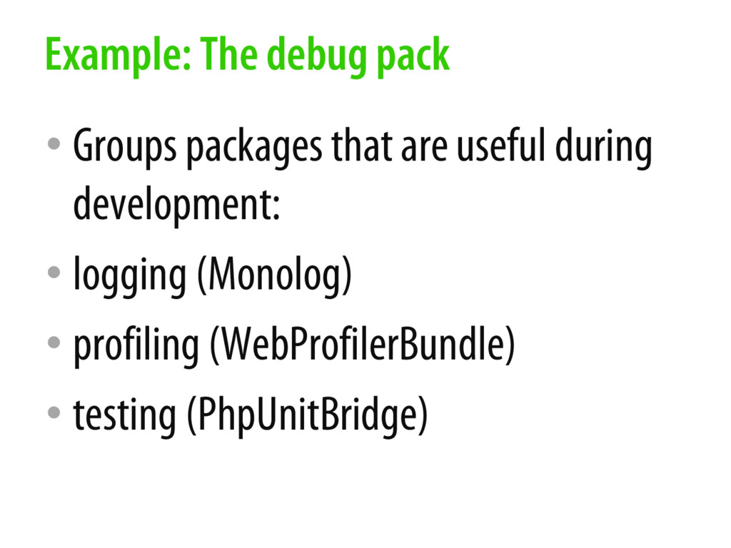 • Groups packages that are useful during develo...