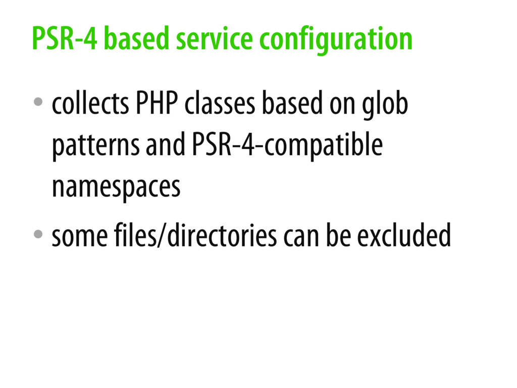• collects PHP classes based on glob patterns a...