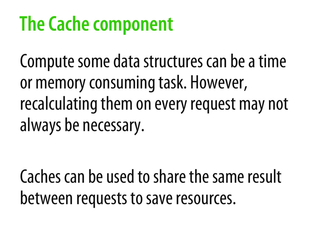 Compute some data structures can be a time or m...
