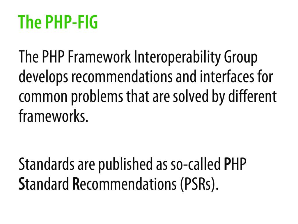 The PHP Framework Interoperability Group develo...