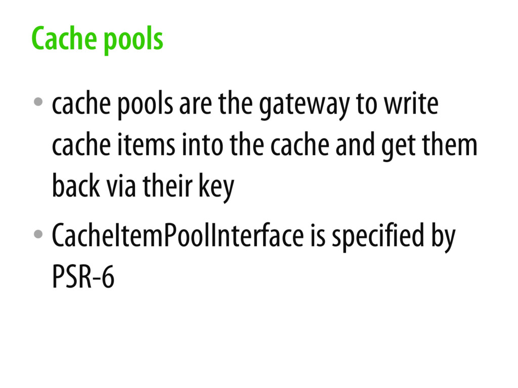 • cache pools are the gateway to write cache it...