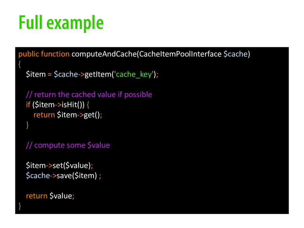 Full example public function computeAndCache(Ca...