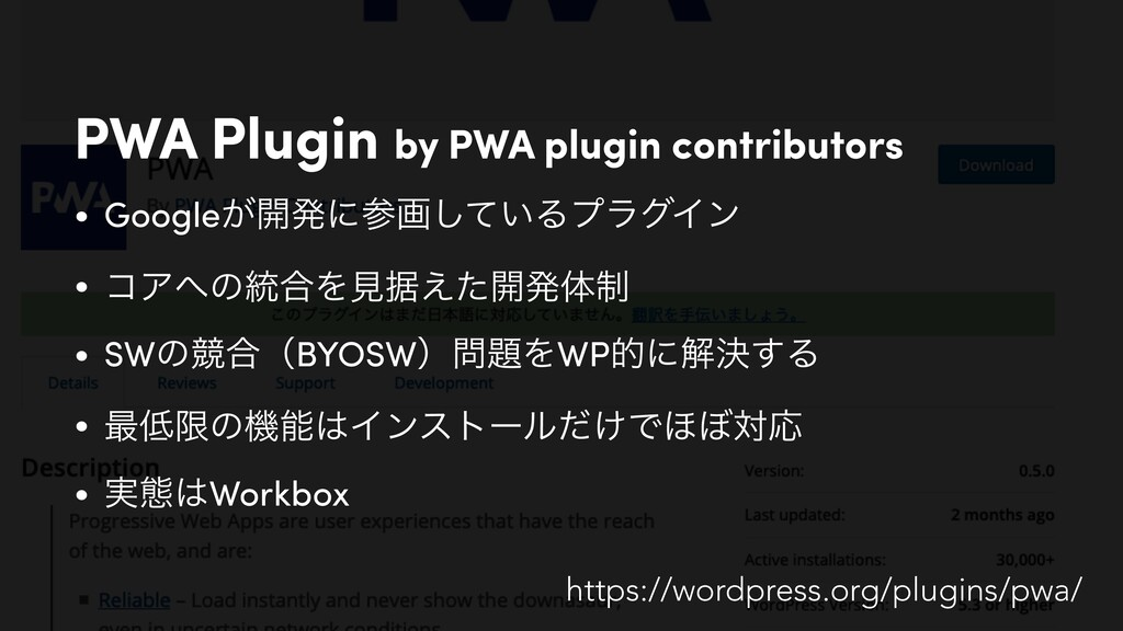 PWA Plugin by PWA plugin contributors • Google͕...