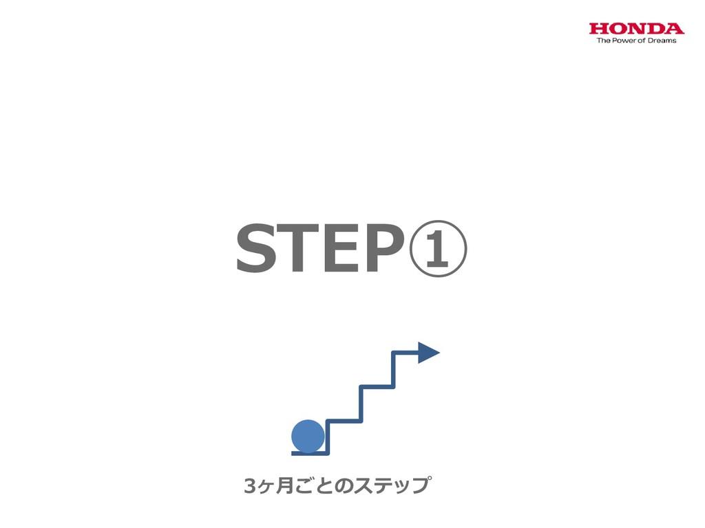 STEP① 3ヶ月ごとのステップ