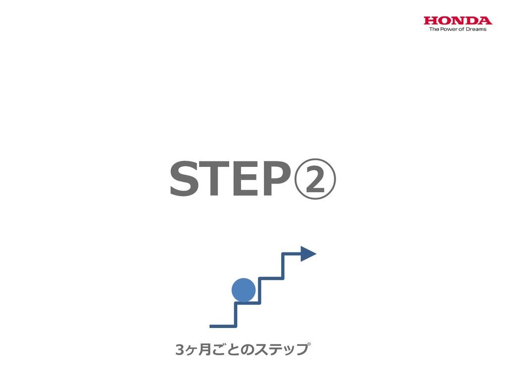 STEP② 3ヶ月ごとのステップ