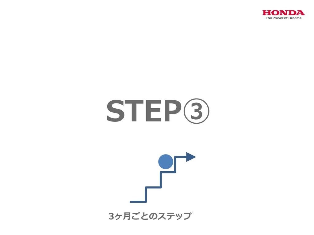 STEP③ 3ヶ月ごとのステップ