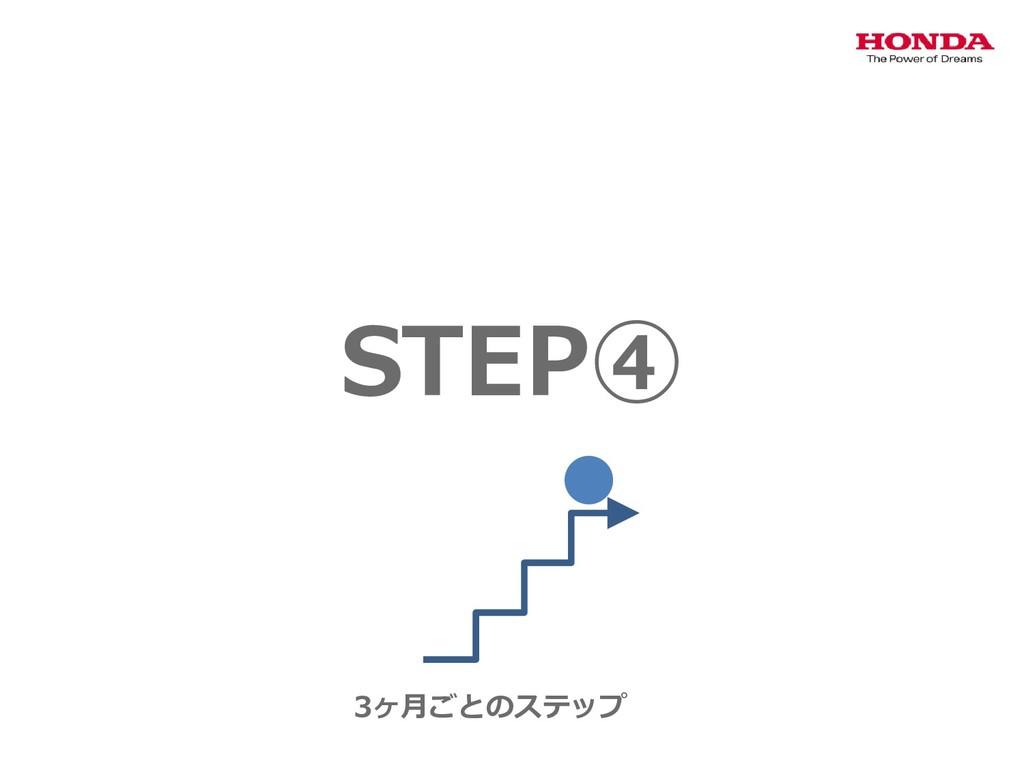 STEP④ 3ヶ月ごとのステップ