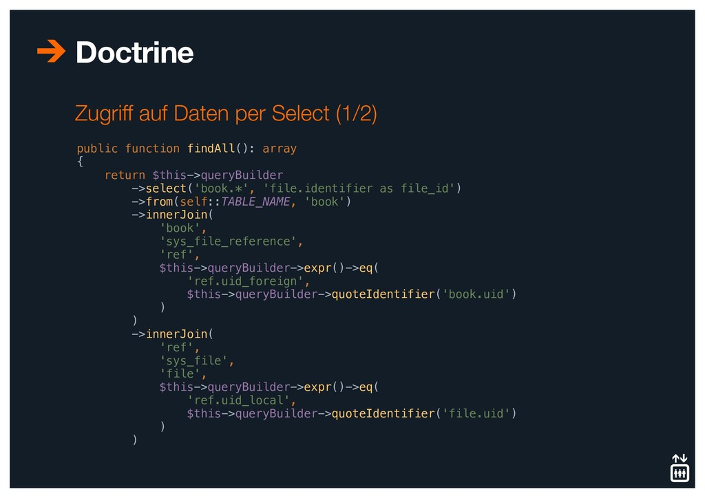 Doctrine public function findAll(): array { ret...