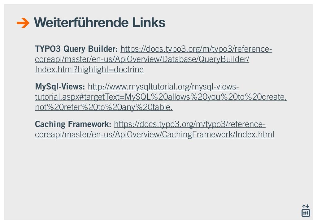 TYPO3 Query Builder: https://docs.typo3.org/m/t...