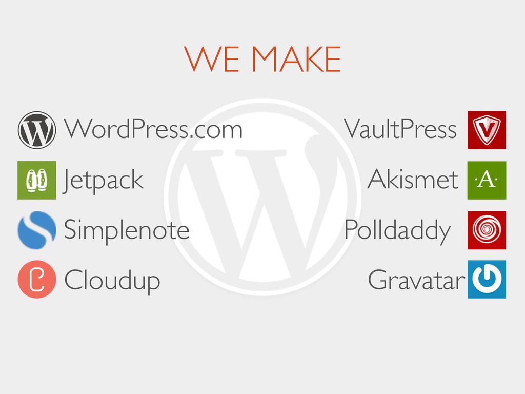 WE MAKE     WordPress.com      Jetpac...