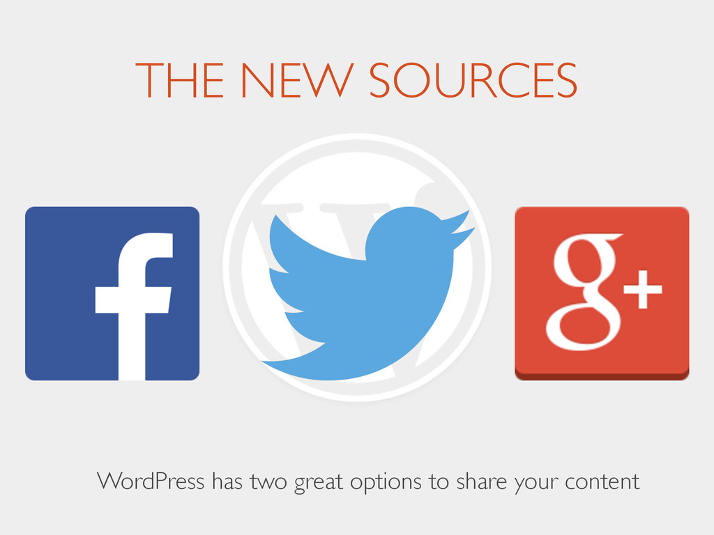 THE NEW SOURCES WordPress has two great options...