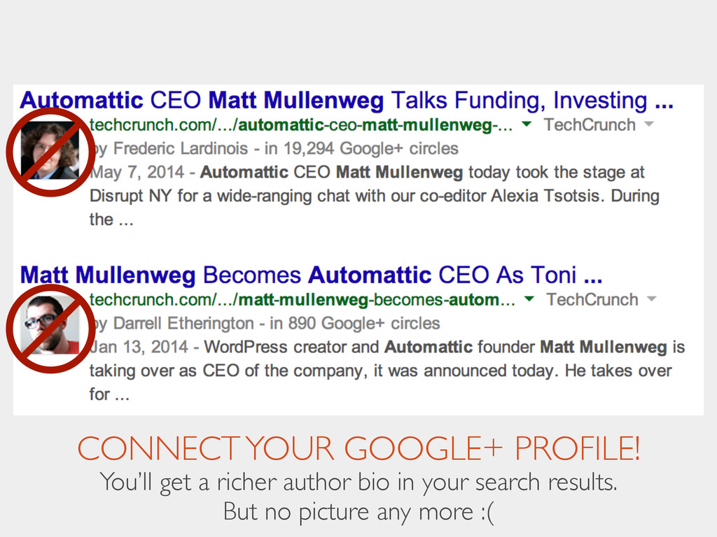 CONNECT YOUR GOOGLE+ PROFILE! You'll get a rich...