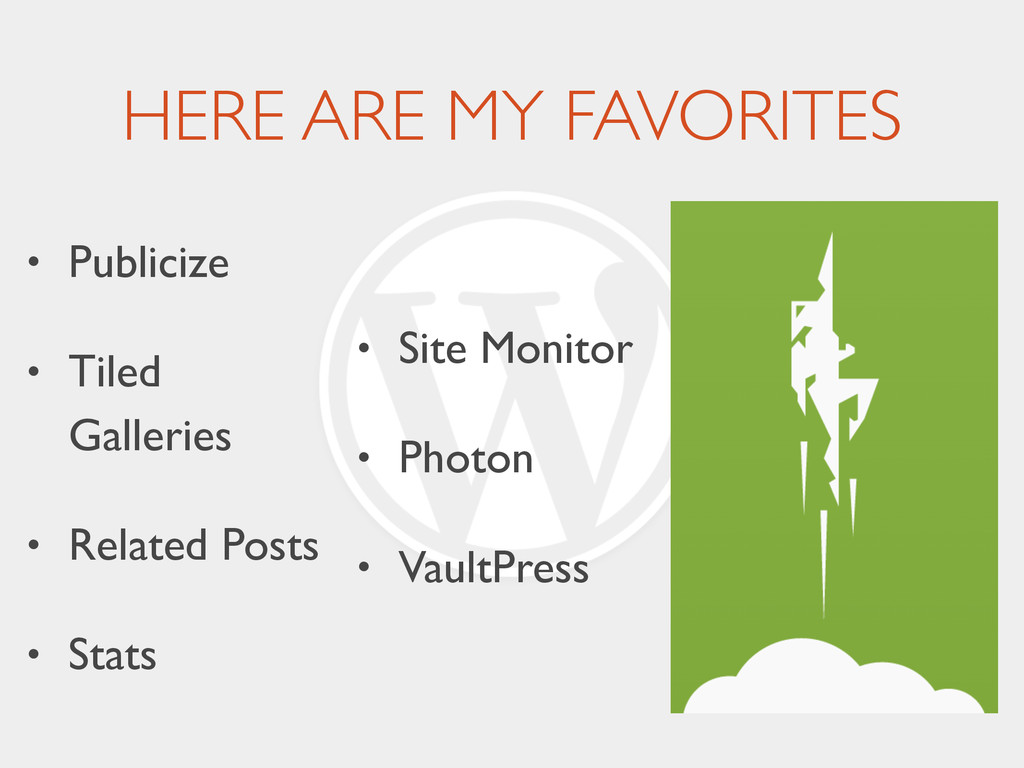 HERE ARE MY FAVORITES • Publicize	 