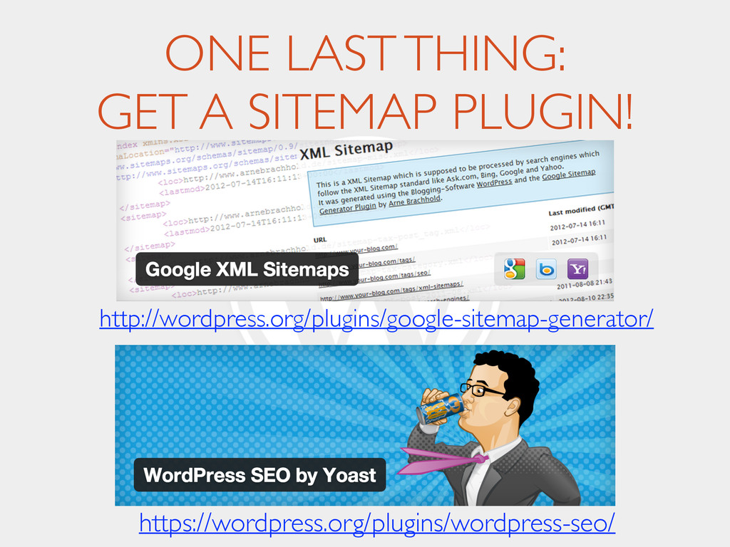 ONE LAST THING:
