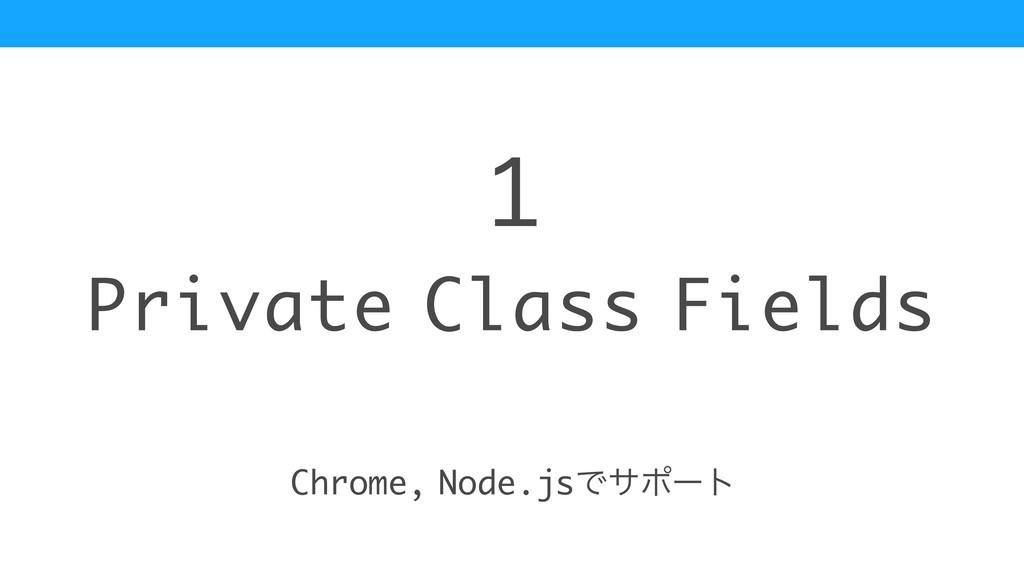 Private Class Fields 1 Chrome, Node.jsͰαϙʔτ