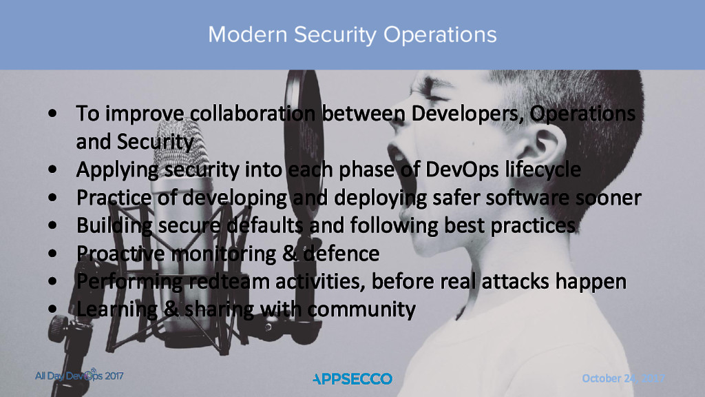 October 24, 2017 Modern Security Operations • T...