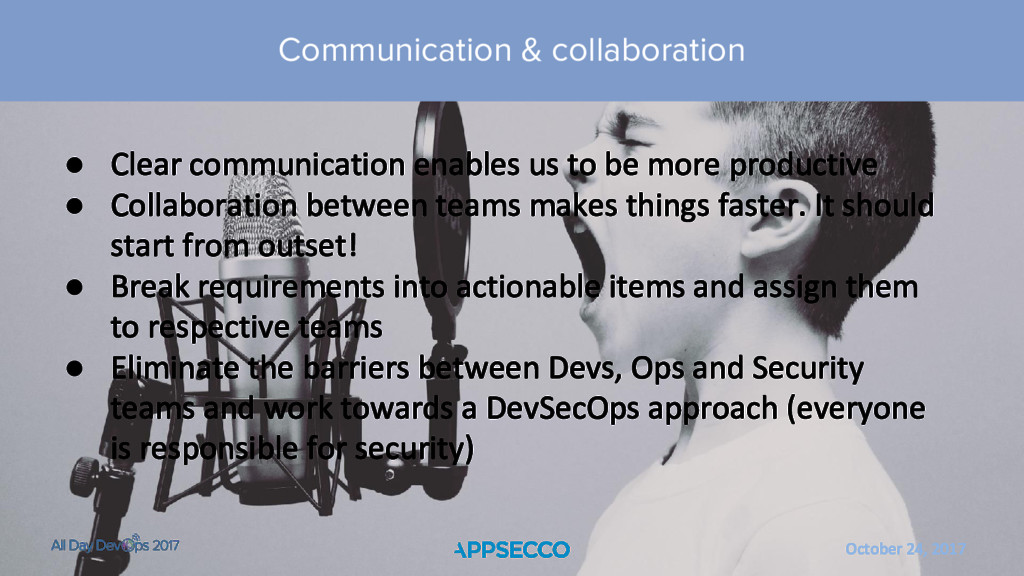 October 24, 2017 ● Clear communication enables ...