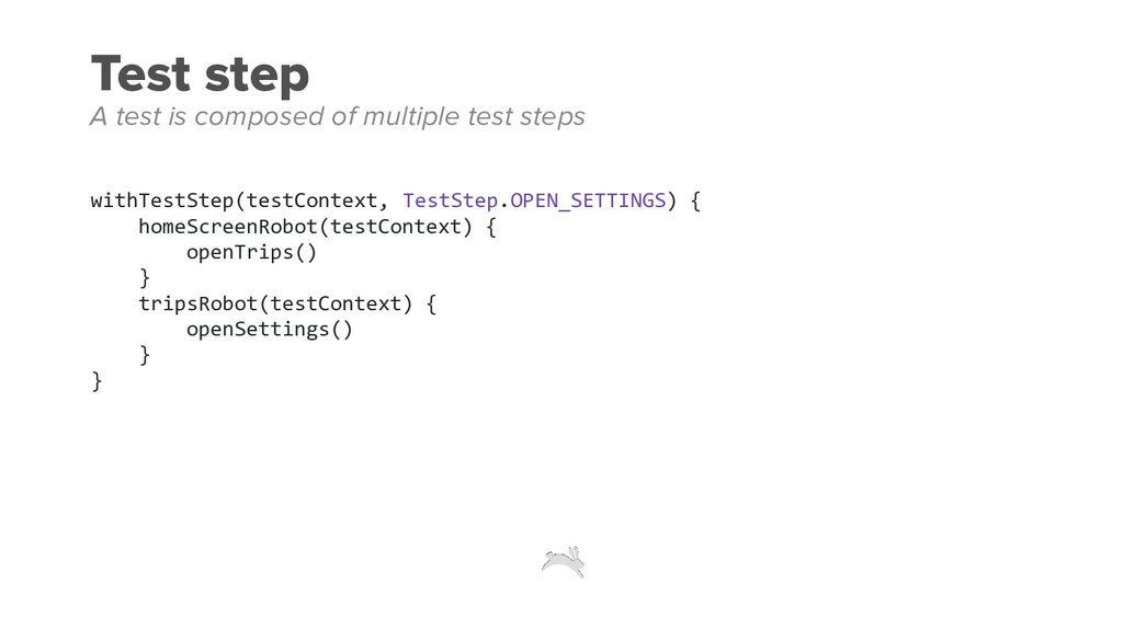 Test step withTestStep(testContext, TestStep.OP...